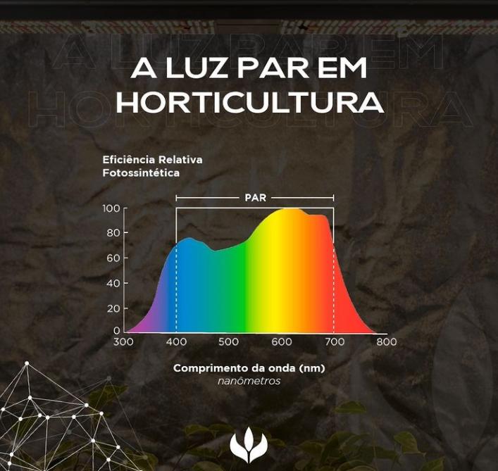 LUZ PAR: faixa principal de Luz utilizada pelas plantas para realizar fotossíntese