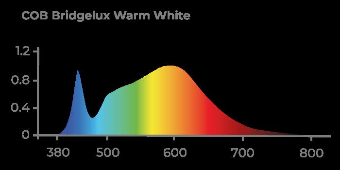 Espectro de Luz COB BRIDGELUX WARM WHITE